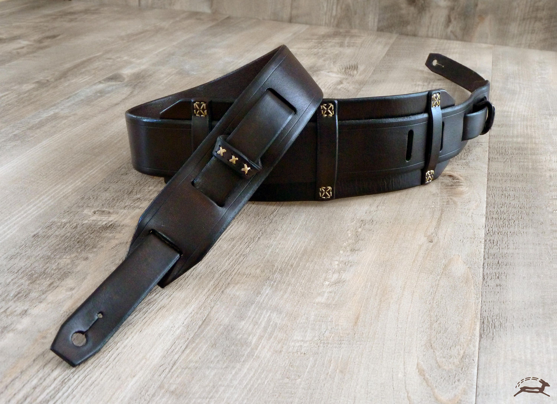 custom leather guitar strap rustic guitar strap. Black Bedroom Furniture Sets. Home Design Ideas