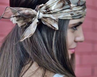 Tulle Floral Headband, Handmade Headbands, Hippie Headband, Fashion Headbands, Womens Head Wraps, Vintage Headbands, Hair Accessories