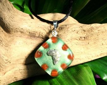 Carnelian Orgone Pendant - Africa - Sacral Chakra - Lightworker Jewelry - Orgone Chi Prana Energy Balancing - Small