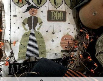 Pattern: Oct. 31st Cross Stitch - Primitive Hare