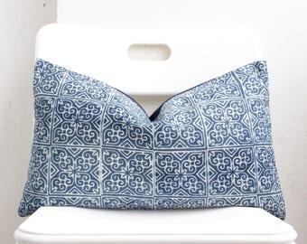 Hmong Batik Indigo Pillow Cover CL4