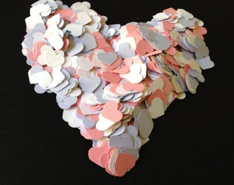 Mixed Pastel Heart Confetti, Decoration, Cutout, Die Cuts