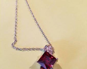 Swarovski Crystal Ruby Necklace
