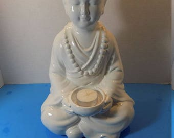 NEW Ceramic White Buddha Sculptures Figurines Asian Zen Thai Oriental Spiritual Religious Hindu Gift
