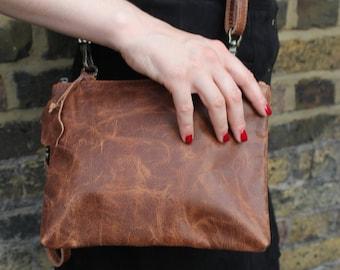Tan Sleeve Clutch-Bag