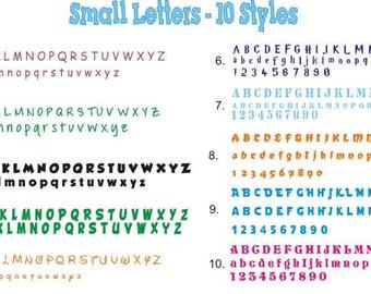 Smaller Sizes Single Vinyl Letter or Number Sticker, Craft Supplies, Wedding Receptions, Window Stickers