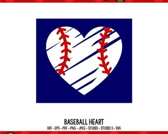 Baseball Heart SVG Baseball Mom SVG Baseball Mom Shirts Baseball SVG Cricut Files Silhouette Files Digital Cut Files svg cut files
