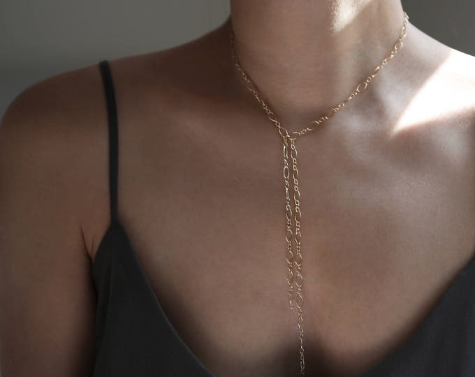 Round Long and Short Y Lariat Necklace // Y & Lariat Necklace
