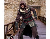 7646, McCall's, Mens, Assassin's Creed, Archer, Costume,Game of Thrones, Tunic, Top, Capelet, Belt, and Gauntlets , Cosplay, Halloween