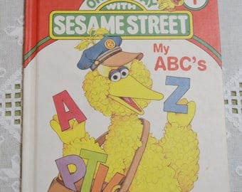 Vintage On My Way With Sesame Street Book 1989 Volume 1 Educational Childrens Book Home School PanchosPorch