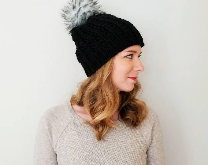 Featured listing image: Moxie Pom Pom Hat - Black