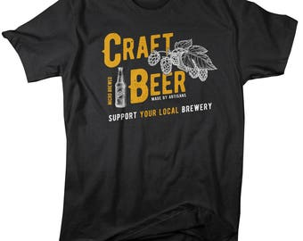Men's Craft Beer Support Local Brewery Tees Brew Master Shirts By Sarah