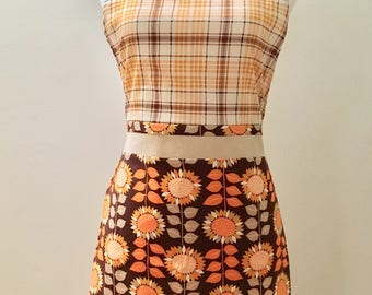 Sunflower Plaid Apron