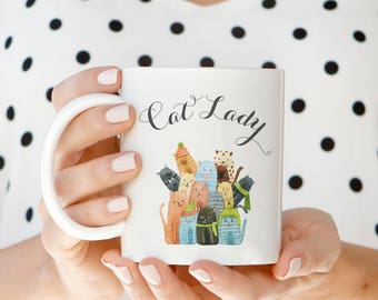 Cat Lady Mug, Crazy Cat Lady Gifts, Cat Lover Gift, Cat Lover, Cat Mug, Cat Coffee Mug, Cat Gifts