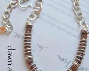 necklace, hessonite garnet necklace, garnet necklace, gold necklace, boho chic necklace, bohemian necklace, chain necklace, organic