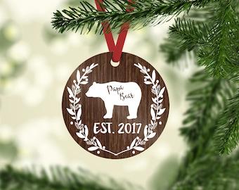 papa bear / Christmas ornament / mama bear / baby bear / Christmas / beat ornament / bear / papa bear ornament / custom ornament / new dad
