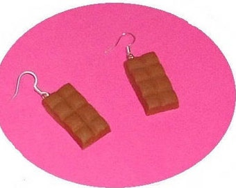 Chocolate milk polymer clay earrings