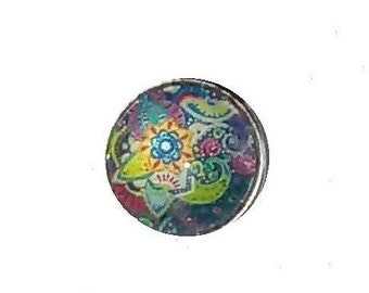 Colorful glass snap button