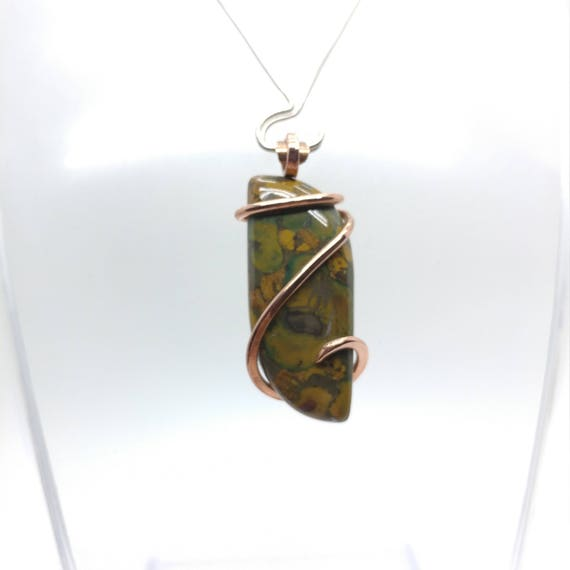 Rustic Stone Pendant | Bamboo Jasper Pendant | Bamboo Jasper Pendant | Copper Pendant | Bamboo Jasper Necklace | Bamboo Jasper Jewelry