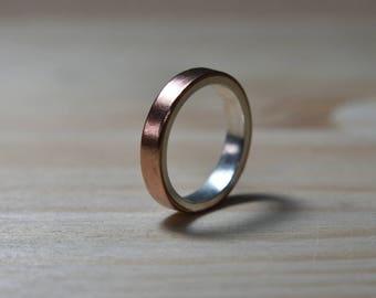 Womens Wedding Ring Copper. Unisex Copper Wedding Band. Copper Women Wedding Ring. Copper Women Wedding Band. Copper and Silver Wedding Ring