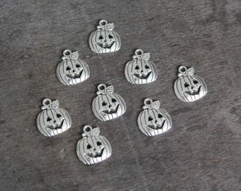 SALE - Halloween Pumpkin (8 pcs) 19 x 16 mm
