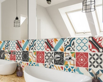 bathroom tile stickers removable backsplash etsy 16830