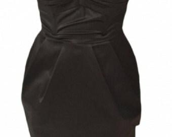 strapless black H & M