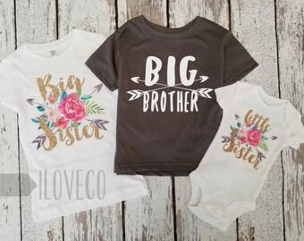 Sibling Shirts / Big Sister shirt / Big Brother Shirt / Little Brother or Little Sister