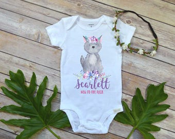 New to the Pack, Custom Baby Gift, Personalized Baby Gift, Newborn Baby Gift, Baby Girl Gift, Baby Shower Gift, Wolf Pack, Baby Wolf, Mama