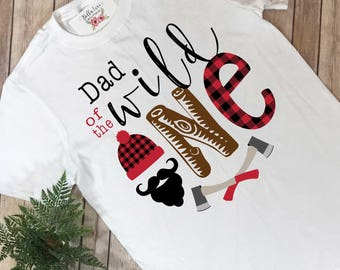 Dad of the Wild One, Lumberjack Party, Daddy and Me Shirts, Wild One Party, Buffalo Plaid Party, Lumberjack Birthday, Wild One Birthday,
