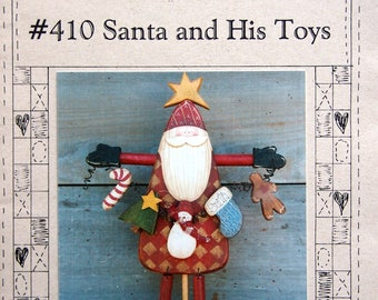 Santa And His Toys By Myra Mahy And Country Faces Vintage Tole And Decorative Painting Pattern Packet 1994