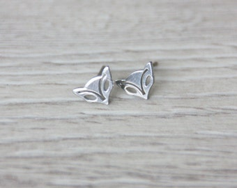 Post earring studs fox, summer, stud earring,