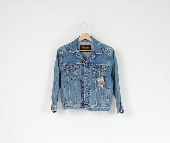 80s Wrangler deadstock women's trucker jacket / size S/M