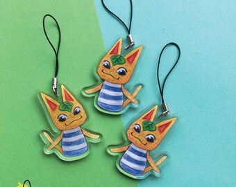 """ACNL Tangy Villager   2"""" Acrylic Clear Charm double sided"""