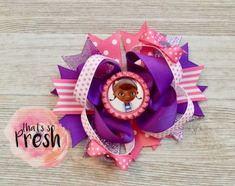 Doc McStuffins bow, Doc McStuffins hair bow, Doc McStuffins party, Doc McStuffins birthday, Doc McStuffins headband