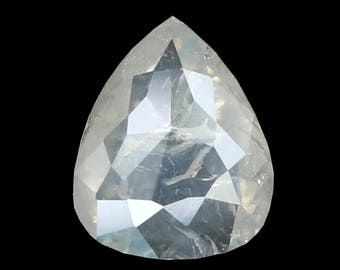 0.54 Ct Natural Loose Diamond Pear White Milky Color 6.50X5.30X1.90 MM K3120