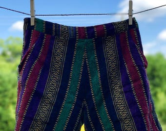 Comfy Woven Shorts: Gold Plated Jewel Tones