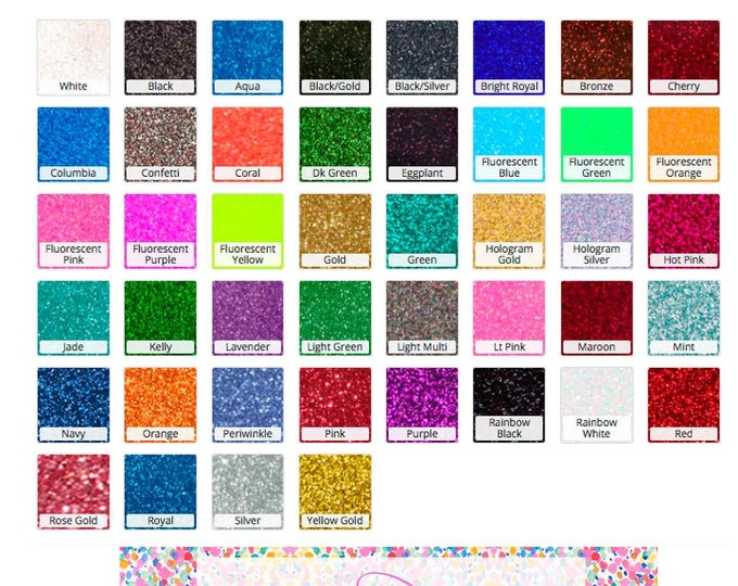 Featured listing image: Stahl's CAD-CUT® Glitter Flake™ Heat Transfer Vinyl