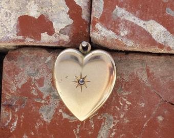 Heart Locket Large Gold Bridal Jewelry W & H Co