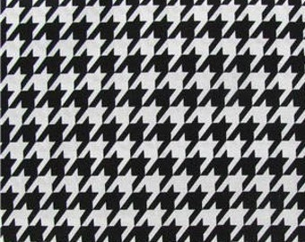 black and white houndstooth fabric 100 cotton quilting apparel crafts home decor