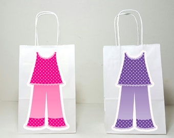 Sleepover Goody Bags, Slumber Party Goody Bags, Sleepover Favor Bags, Slumber Party Favor Bags, Pajamas Goody Bags