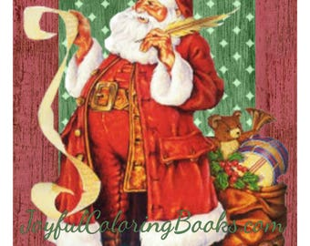 4 Christmas Santa Large Printable Pictures ~ Tags ~ Labels 8.5 x 11.5