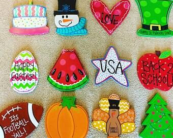 Door Hanger Attachments, Wreath Attachments, All Year Door Hanger, All Year Wreath, Welcome Door Hanger, Welcome wreath