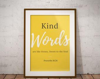 Bon Yellow Wall Decor, Inspirational Quotes, Christian Wall Art, Bible Wall  Art, Proverbs