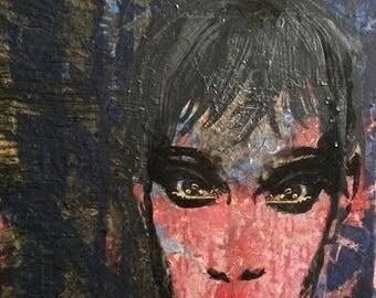 Original Pop Art Painting / Metallic Patriot /on Canvas / Modern Wall Art / Abstract Painting / Patriot Art /She's The Artist / BlevinsCohea