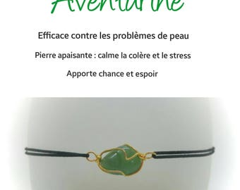 Aventurine bracelet brings good luck
