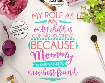 Pregnancy Announcement SVG, New Best Friend SVG, Expecting svg, Pregnancy Sign svg, Pregnant svg, Cut Files for Silhouette  for Cricut