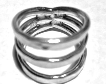 Sterling Silver Ring Three Bands