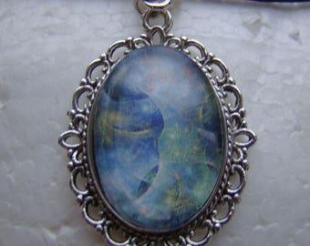 Heavenly Nebula Oval Cabochon Thong Necklace