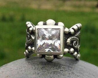 Rockin Out Jewelry - Texas Angel - Sterling Silver - Western Style - Engagement - Elegant - Classy Western Ring - Gift For Her - Valentines